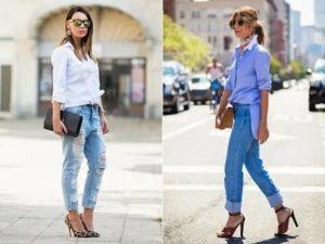 Как носить рубашку с джинсами: 5 модных вариантов