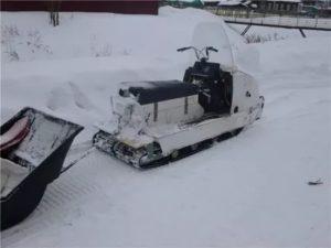Как переделать снегоход буран